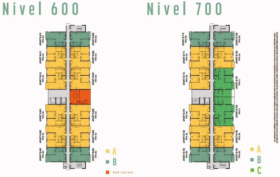 Nivel 600 y 700