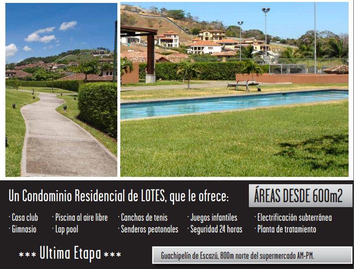 Lotes desde 855m en Condo Cerro Alto Escazú