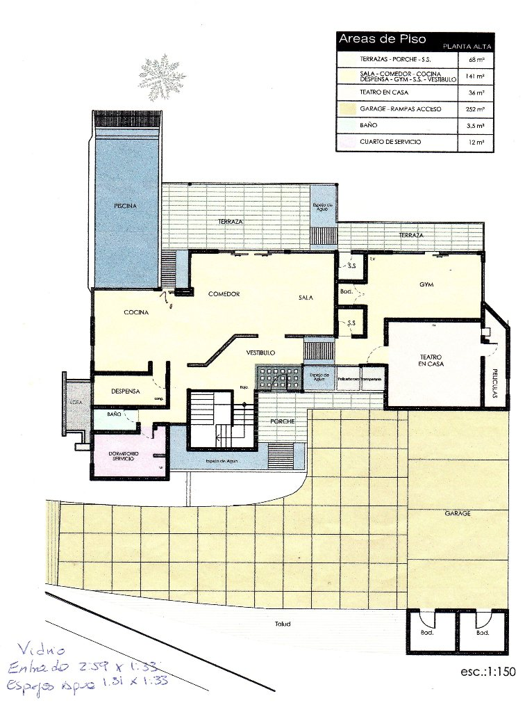 Layout first floor