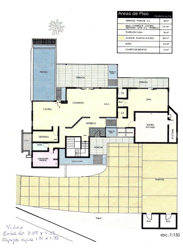 Layout first floor